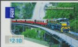 AUS SG3392 $2.10 - Kuranda Scenic Railway self-adhesive stamp from sheetlet